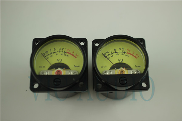 Taiwan 500VU Panel VU Meter High Precision Audio Level Meter 6-12V Audio Level With Warm BackLight