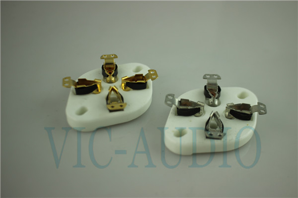 4Pins Tube Socket GZC4-1 For 2A3 300B FU-811 274A Tube Ceramic Socket
