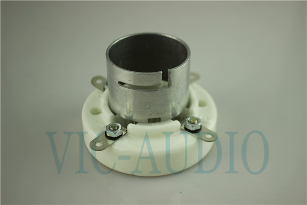 Ceramic tube socket 4 pin tube socket GZC4-1B silver foot for 300B 2A3 811 tube amplfier