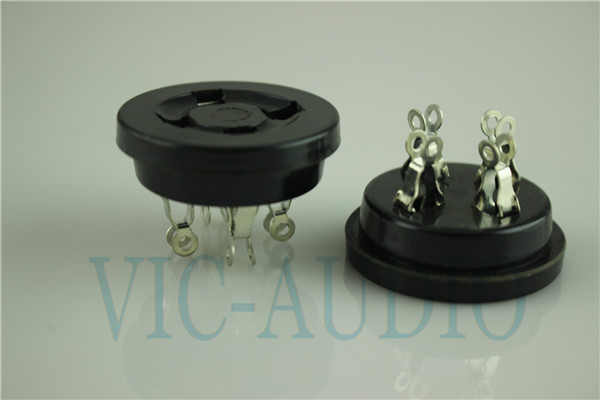 4Pins Tube Socket GZS4-2 For 2A3 300B FU-811 274A Tube Bakelite Socket