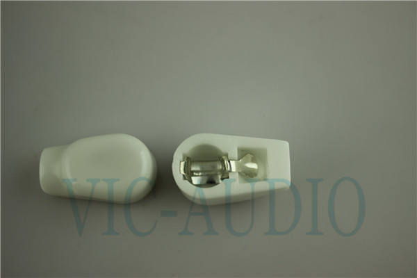 White plated Ceramic ANODE vacuum tube cap/grip cap for EF37/6P13P/6Z18/1625/6J1 Tube