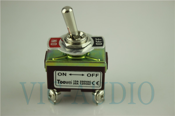 Toowei Switch Momentary Toggle Switch 4pins ON-OFF 15A 250VAC/ 20A 125VAC