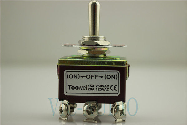 Toowei Switch Momentary Toggle Switch 6pins ON-OFF-ON 15A 250VAC/ 20A 125VAC