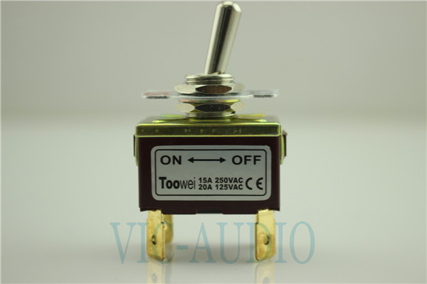 Toowei Switch Momentary Toggle Switch 4pins ON-OFF Solder Terminal 15A 250VAC/ 20A 125VAC
